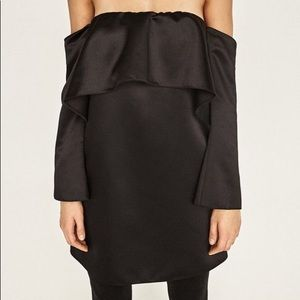 Zara Off Shoulder Top With Frill
